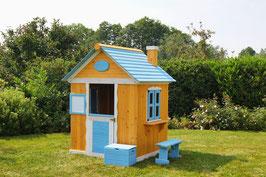 Kinderspielhaus Spielhaus aus Holz  146 x 180 cm