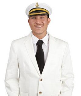 Kapitänsmütze Kapitän mit Anker