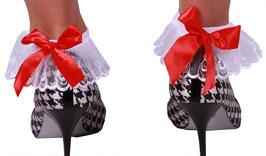 Damen Sneaker Socken mit Schleife in weiß