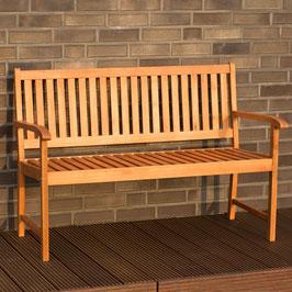 Gartenbank 2-Sitzer aus Yellow Ballau Holz geölt 129 cm