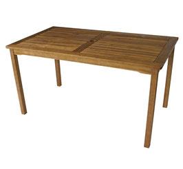 Gartentisch Tisch aus Akazienholz 140 x 80 x 73 cm