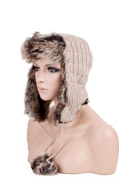 Wintermütze Mütze in beige Einheitsgröße