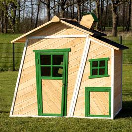Kinderspielhaus Spielhaus aus Holz  168 x 156 cm