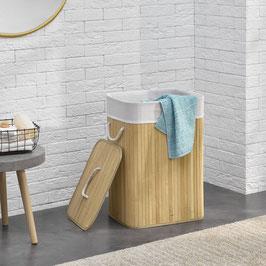 Wäschekorb Wäschetruhe aus Bambus Farbe in natur 72 Liter