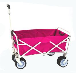Bollerwagen Transportwagen Handwagen in pink