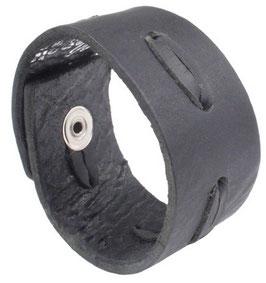 Lederarmband mit Druckverschluß in schwarz oder braun