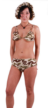 Bikini im Army Look Military