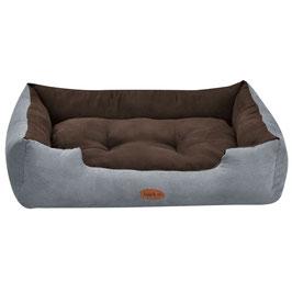 Hundekorb Hundebett in grau-braun Größe L  60 x 80 cm
