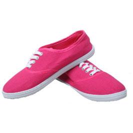 Sommerlicher Damen Sneaker Turnschuhe Stoffschuhe in pink
