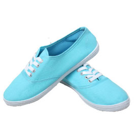 Sommerlicher Damen Sneaker Turnschuhe Stoffschuhe in hellblau