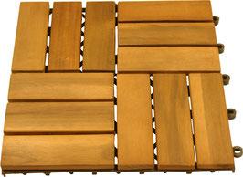 Bodenfliesen Terrassenfliessen aus Akazien Holz geölt 30 x 30 cm