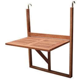 Balkon Hängetisch Gartentisch 60 x 40 cm