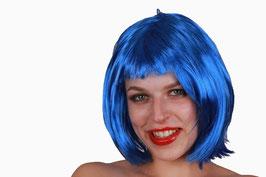 Kurzhaar Perücke in blau