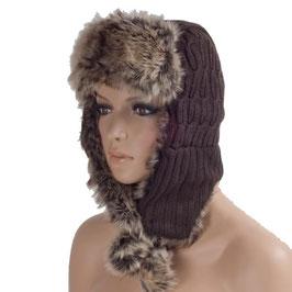 Wintermütze Mütze in braun Einheitsgröße