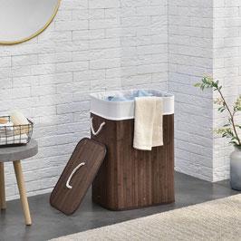 Wäschekorb Wäschetruhe aus Bambus Farbe in braun 72 Liter