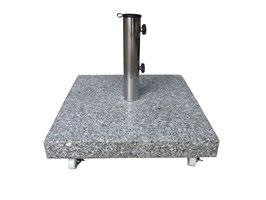 Schirmständer quadratisch 50 kg aus Granit in naturgrau