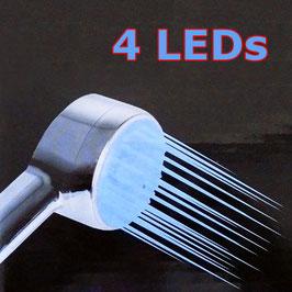 LED Duschkopf mit vier blauen LEDs