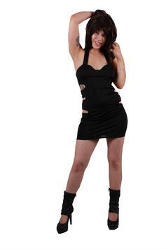 Minikleid in schwarz mit sexy cut outs