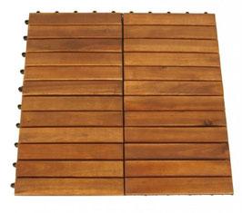 24 Stück Bodenfliesen Terrassenfliesen Fliesen aus Akazienholz  30 x 30 cm