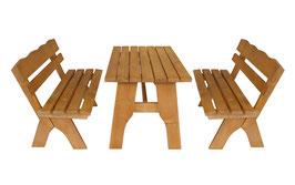 Garnitur Sitzgruppe 3-teilig Kiefer massiv 120 cm