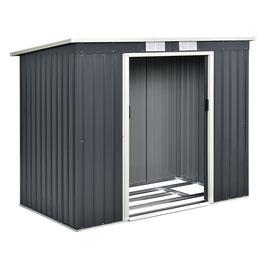 Gerätehaus Geräteschuppen aus Metall mit Pultdach 213 x 130 x 173 cm