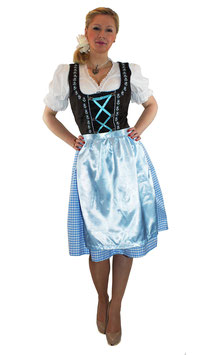 3 teiliges Dirndl Oktoberfest Outfit