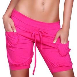 Bequeme Hot Pants kurze Hose in pink Größe 34-36