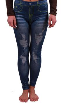 Leggings Jeggings Jeans Hose in destroyed Optik in blau Größe 32-34