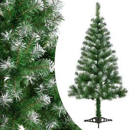 künstlicher Tannenbaum mit Kunstschnee und Ständer 120 cm
