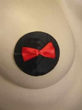 1 Paar Nipple Cover schwarz mit Schleife