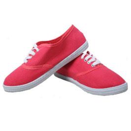 Sommerlicher Damen Sneaker Turnschuhe Stoffschuhe in rosa