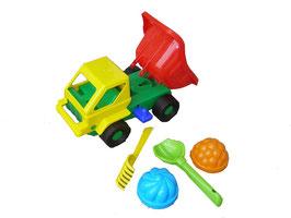 Stabiles farbenfrohes Sand + Strandspielzeug