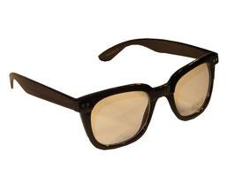 Nerd Klarglasbrille Wayfarer Style in schwarz