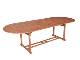 Gartentisch Holz Eukalyptus geölt ausziehbar 180-260cm