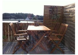 Klappbare Gartengarnitur Sitzgruppe 5-teilig Akazienholz