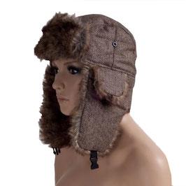 Wintermütze Mütze in braun Größe 60