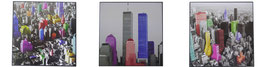 3 er Set Bild Bilder New York N.Y Skyline WTC World Trade Center Manhattan