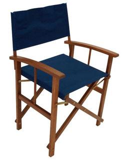 Regiestuhl Gartenstuhl Stuhl zwei Stück in dunkelblau