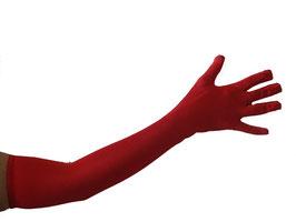 Elegante Oberarm-Handschuhe in Satin Optik in rot