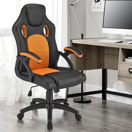 Schreibtischstuhl Drehstuhl Bürostuhl in orange