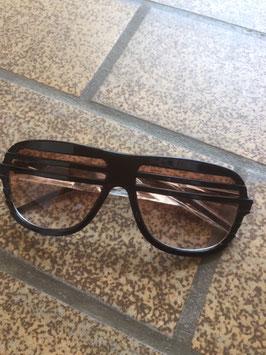 Halfshade Shutter Shades Rahmen schwarz Gläser braun
