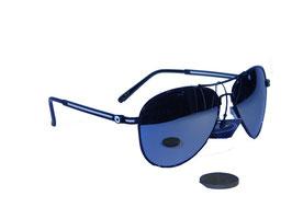 Pilotenbrille in gold oder schwarz mit silber verspiegelten Gläsern
