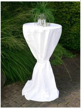 Husse für Stehtisch bis 80 cm  in weiß