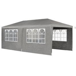 Pavillon Partyzelt 3x6m mit Seitenwänden in dunkelgrau
