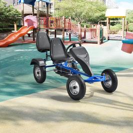 2 Sitzer Go-Kart Kinder Tretauto in blau