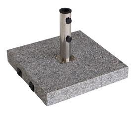 Schirmständer quadratisch 60 kg aus massivem Granit