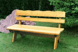 Holz Gartenbank 2-Sitzer, Kiefer massiv 120cm