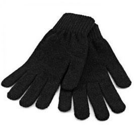 Soft Strick Handschuhe in schwarz