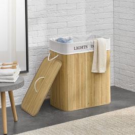 Wäschekorb Wäschetruhe aus Bambus Farbe in natur 100 Liter