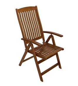 klappbarer Gartenstuhl Stuhl braun geölt
